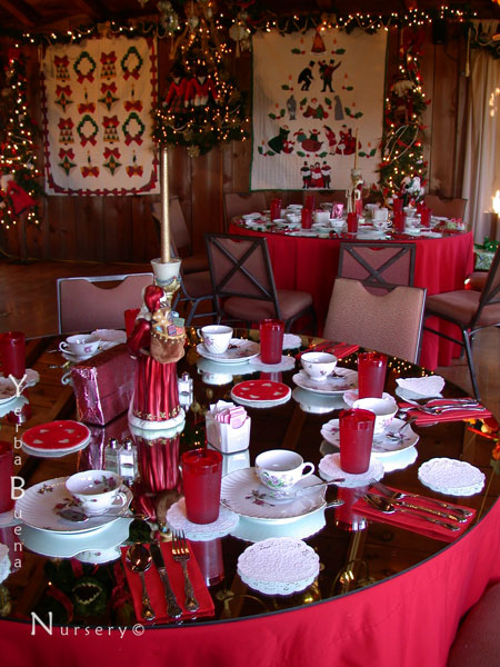 A message from anne response required please the york for Christmas lunch table setting ideas
