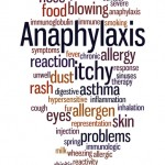 Anaphylaxis, word cloud concept on white background.
